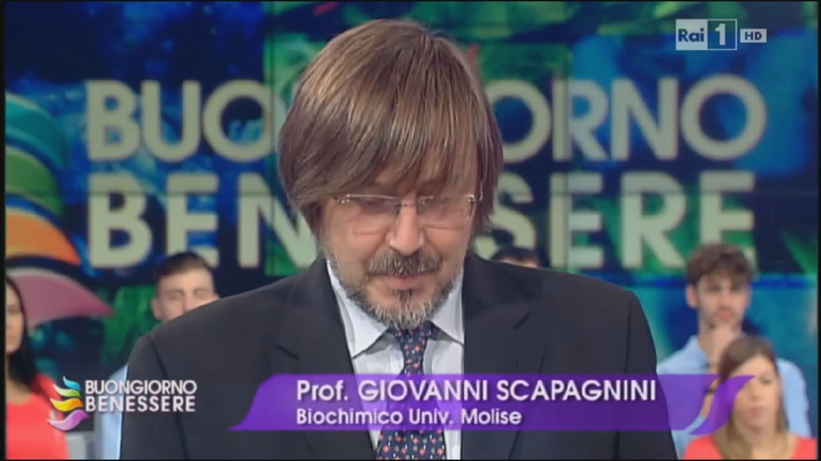 Orgaia's Prof Giovanni Scapagnini regular expert guest on RAI TV's Health & Science programme