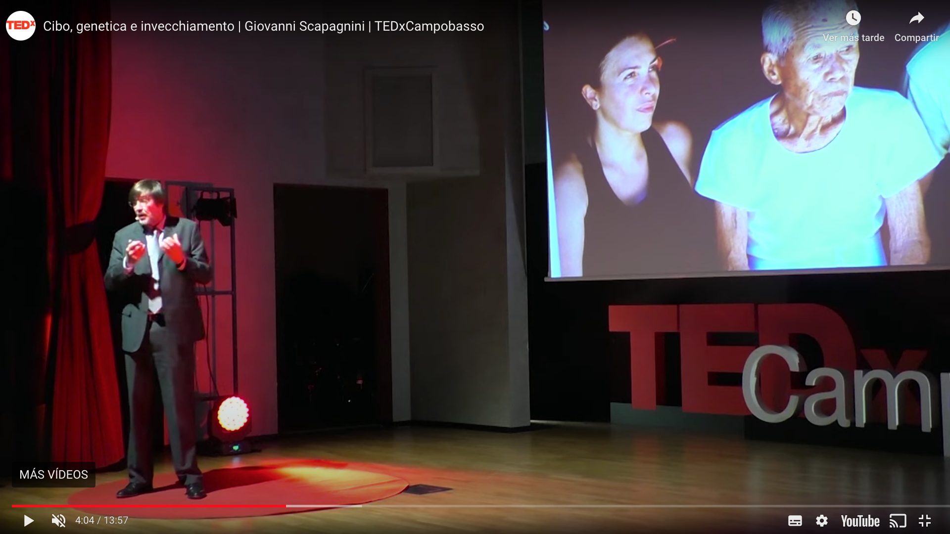 PROF. SCAPAGNINI OF ORGAIA SPEAKS AT TEDx ITALY ON HEALTHY LONGEVITY STRATEGIES.